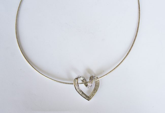 Sterling Choker Open Heart | Gifted Unique
