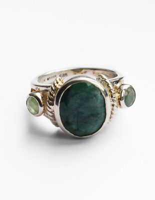 Jade ring set in sterling silver
