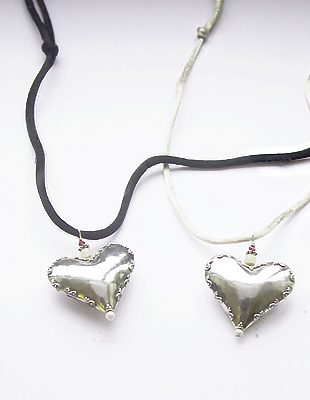 Antique Sterling Silver Heart Neckace