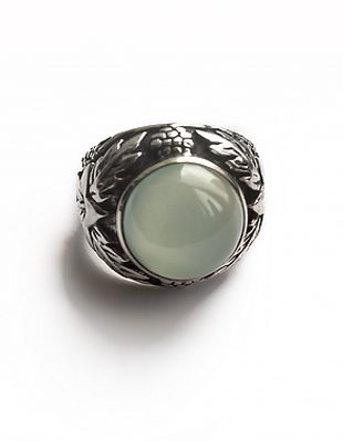 Prasiolite and Sterling Silver Ring