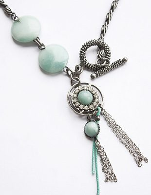 Blue Lariat Necklace