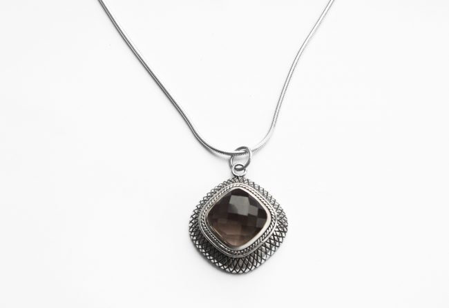 Smokey Topaz Necklace