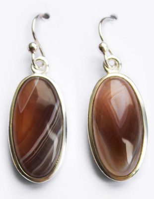 Botswana Agate Earrings Gifted Unique