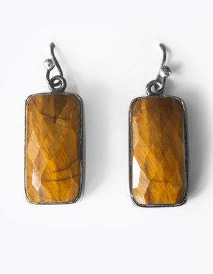 Tiger Eye Earrings Gifted Unique