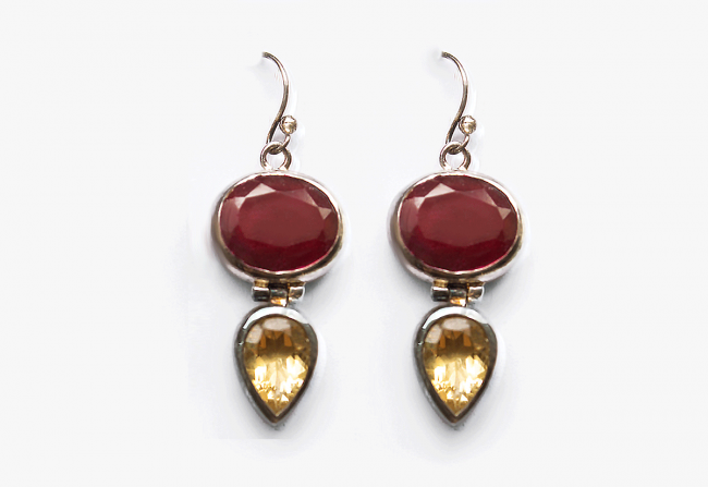 #162_ruby+citron_-and-Sterling-Earrings
