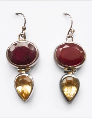 Ruby Citron earrings Gifted Unique