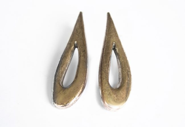 Pewter Earrings Gifted Unique
