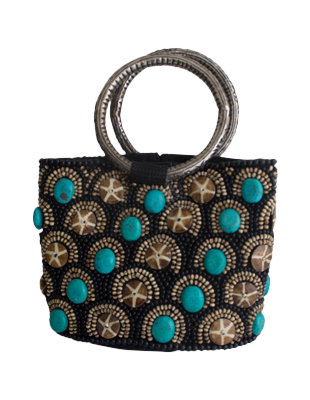 Hand Crafted Turquoise Purse