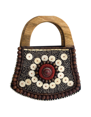 Multi – Stone Hand Beaded Purse