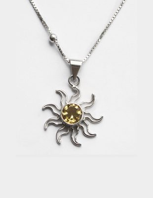 Charles Albert Sun Citrine Necklace