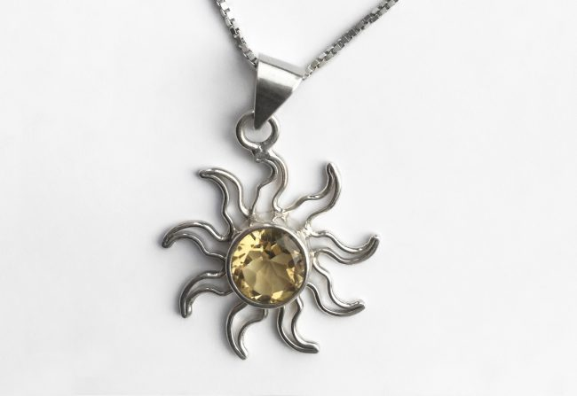 Charles Albert Sun Citrine Necklace | Gifted Unique