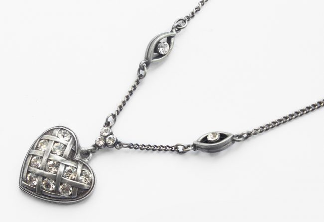 Antique Sterling Silver Heart Necklace | Gifted Unique
