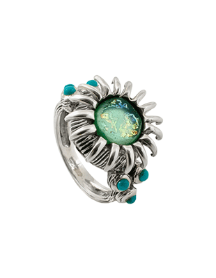 Flower sterling ring