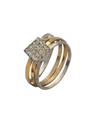 Silver, gold and CV ring