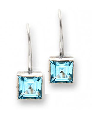 Sterling Silver Earrings with Topaz