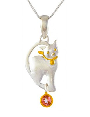 Cat Pendant Sterling Silver