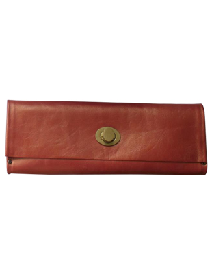Red Leather Clutch