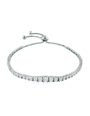 Graduated Diamond  BoloTennis Bracelet
