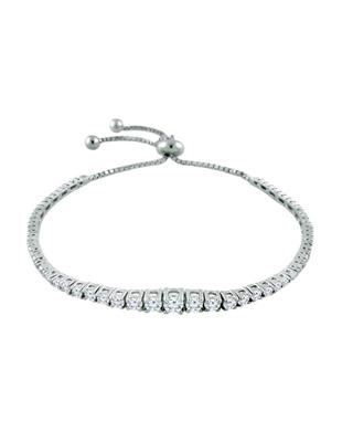 Graduated Diamond  BoloTennis Bracelet