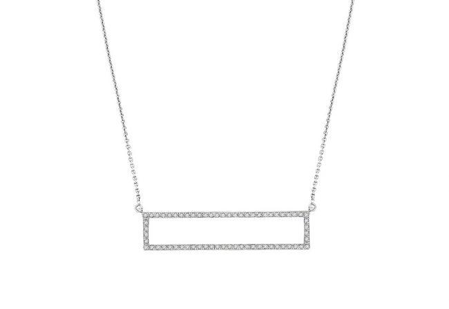 Diamond Rectangle Pendant  Gifted Unique