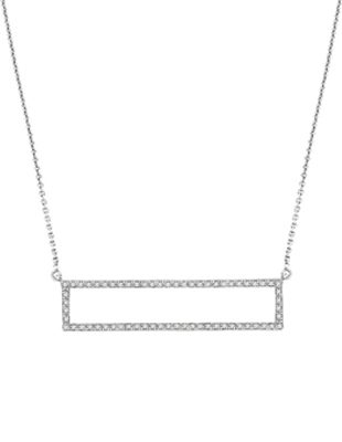 Diamond Rectangle Necklace