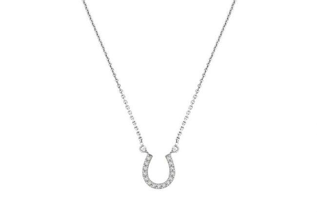 Horse Shoe Diamond Necklace