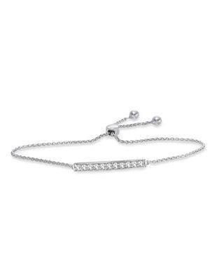 Diamond Bar Bolo Bracelet