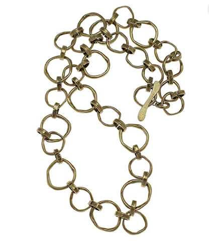 Hot now!  Chain link necklaces