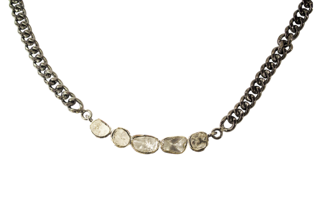 Chain-Link Necklace-With-Diamonds-Gifted-Unique