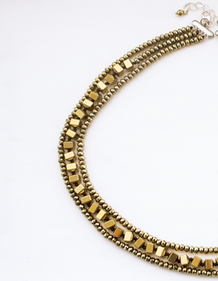 Autumn Designs Gold Necklace