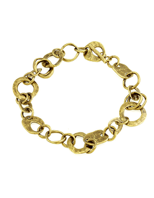 Mixed shape rings chain link necklace