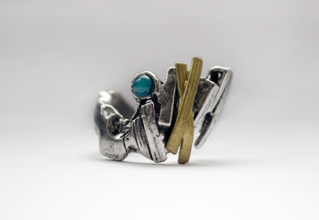 Pewter and turquoise Ring 2 $60