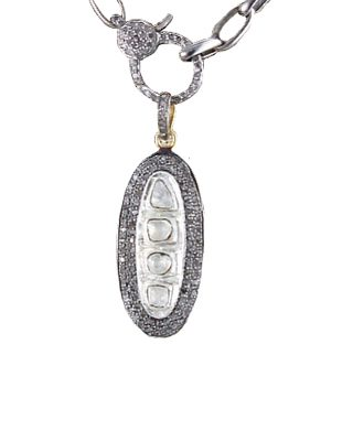 Sliced Diamond Pendant
