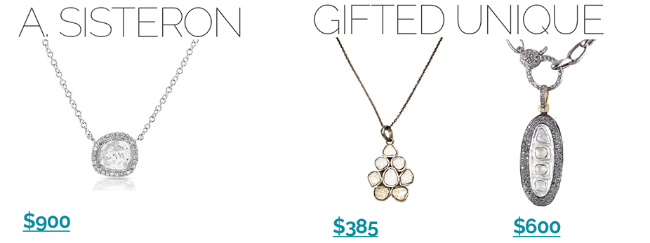 Sliced-Diamond-Pendants-Gifted-Unique-925 Get these sliced diamond jewelry looks for less!