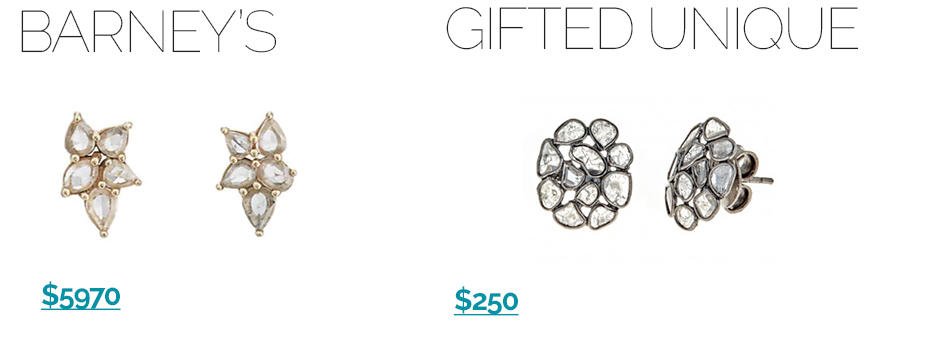 Sliced-cluster-diamond-Earrings-1 Get these sliced diamond jewelry looks for less!