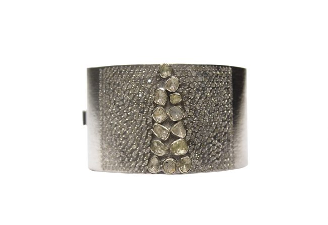 Sterling-Silver-and-Diamond-Cuff-Gifted-Unique-Large