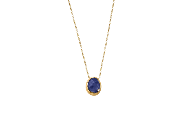 sapphire and diamond necklace gifted unique
