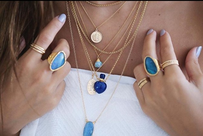 Layering-5-or-more-necklaces-gifted-unique Layered necklaces: get the look right!