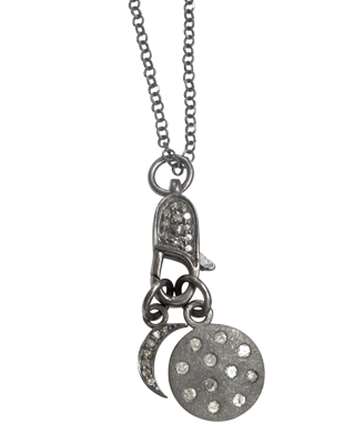 Pave diamond celestial necklace