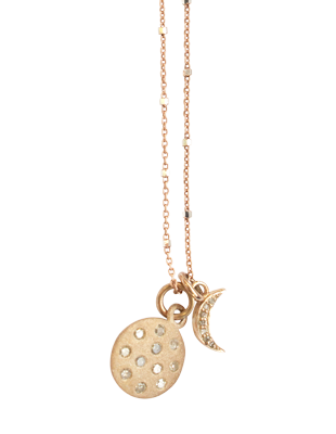 Diamond celestial pendant in rose gold