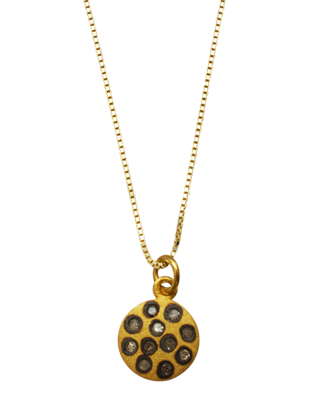 Diamond Sun Pendant in Yellow Gold