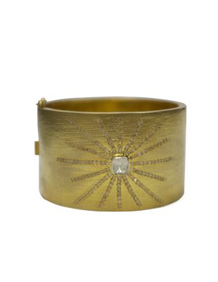 Gold Cuff with Diamonds