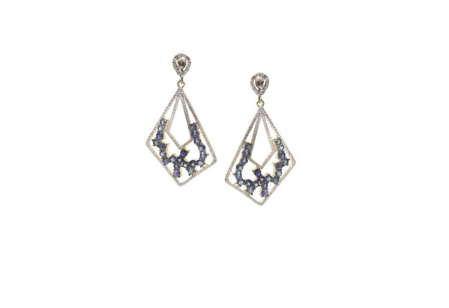 Geometric-Sapphire-and-Diamond-Earrings