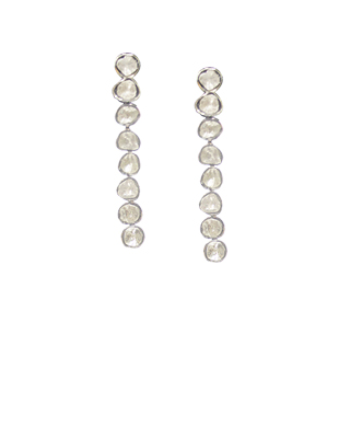 Diamond drop earrings medium