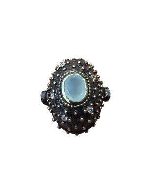 Chalcedony and Sterling Ring