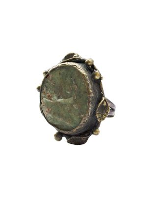 Druzy Moss Green Ring