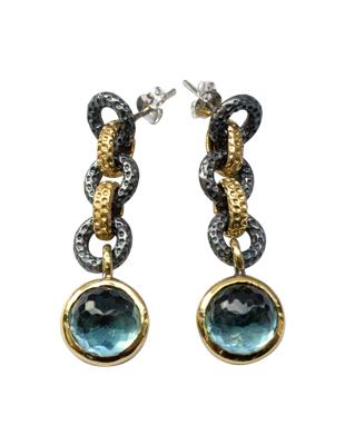 Sterling and blue quartz earrings