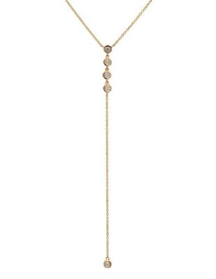 Circle Diamond Lariat