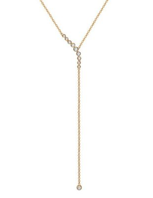 Edgy Diamond Lariat