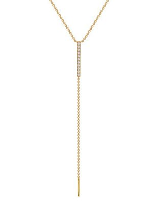 Stacked Diamond Lariat